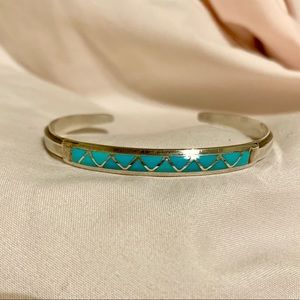 ✨Beautiful Silver & Turquoise Cuff Bracelet✨